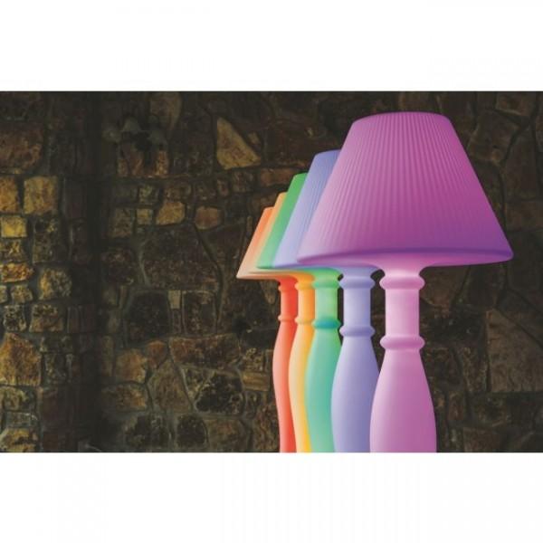 LAMPADA PIANTANA LED RGB IN RESINA CON TELECOMANDO MOD.EVA CM.60X180H COD.13395