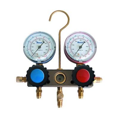 Tecnogas gruppo manometrico 4 vie con indicatore di flusso per gas r410 11433