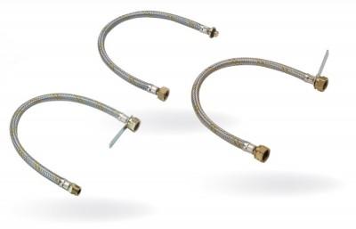 Tubo flessibile con treccia metallica per minicentralina cm 100