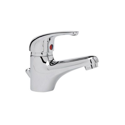 Miscelatore monocomando per lavabo prince idronord con scarico 1