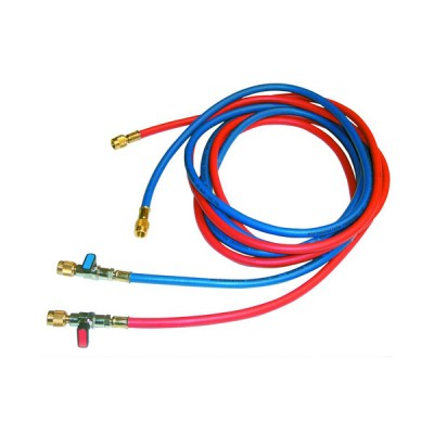 Tecnogas tubo blu per vuoto e carico per gas refrigerante 1/4 SAE x 5/16 SAE