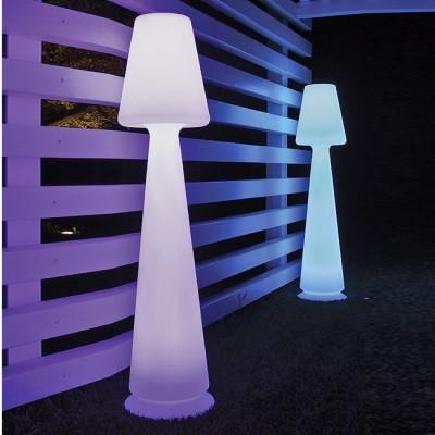 LAMPADA PIANTANA LED RGB CON TELECOMANDO MOD.CHLOE IN RESINA  COD.13385