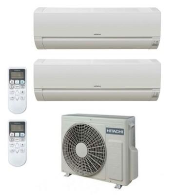 CLIMATIZZATORE HITACHI DODAI DUALSPLIT 7000+7000+RAM-40NE2F R-32