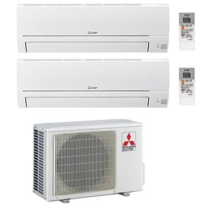 CLIMATIZZATORE MITSUBISHI HR DUAL SPLIT 9000+9000+MXZ-2HA50VF INVERTER