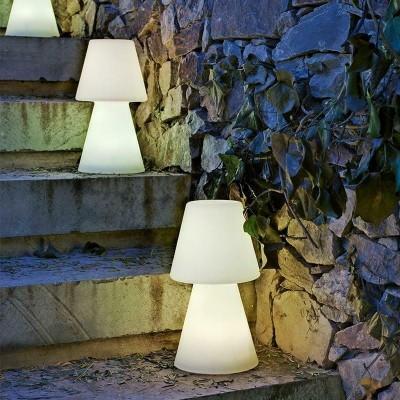 LAMPADA DA TAVOLO MODELLO LOLA 20 RGB BIANCA BATTERIA RICARICABILE TOUCH 11X20h