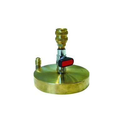 Tecnogas supporto in ottone 1/4 per bombole da 1 kg di gas refrigerante