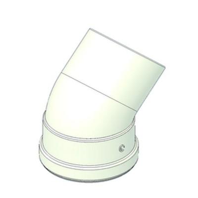 TECNOGAS CURVA COASSIALE 45° D.80 PER SDOPPIATORE