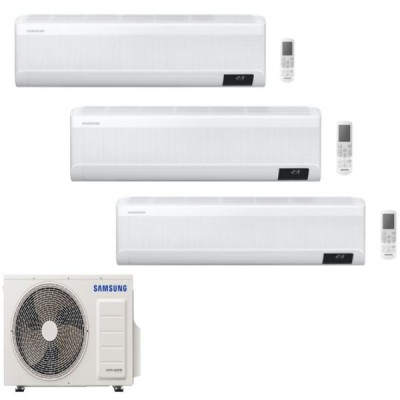 CLIMATIZZATORE SAMSUNG WINDFREE AVANT TRIALSPLIT 9000+12000+18000+AJ068TXJ3KG R-32 WI-FI